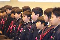 古賀東中学校の新入生