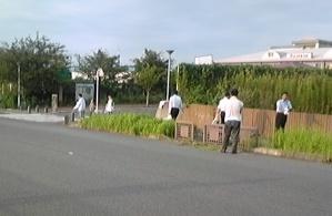 サンコスモ古賀周辺の清掃活動