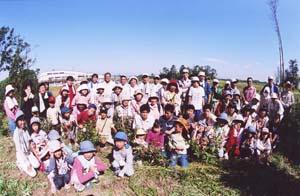 育林活動に参加した人たち(一部)