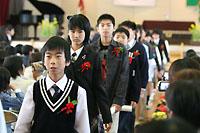 古賀東小学校卒業式の様子