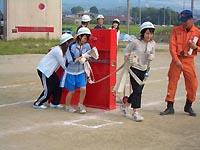 屋内消火栓訓練