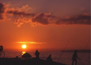 古賀海岸の夕焼け