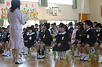 緊張つづきの入学式
