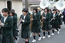 古賀北中学校のブラスバンド部の生徒