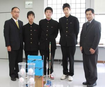 古賀中学校のロボット製作チーム