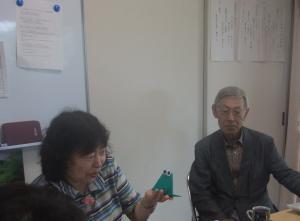 折り紙講座の様子