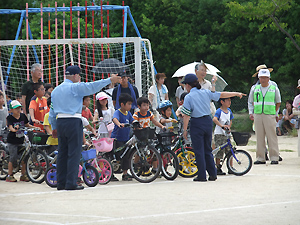 自転車講習会の様子