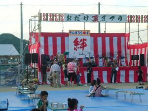 夏祭り舞台