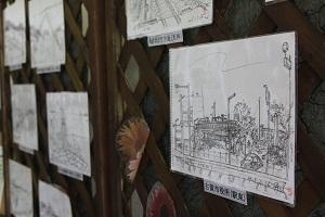 井口さんのスケッチ「古賀市役所」