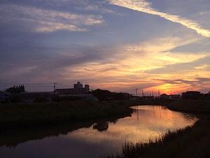 大根川から見た夕焼け2
