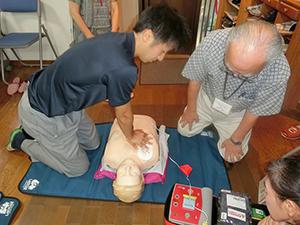 心肺蘇生の訓練