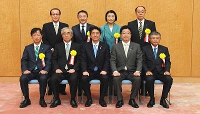 総理官邸記念写真