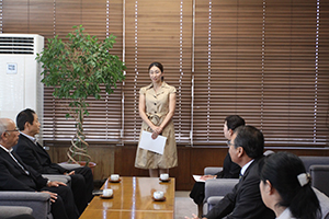 大賀里香さんのご挨拶