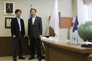 隈社長と中村市長