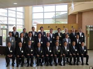 第133回福岡県市長会市長集合写真