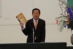 東中卒業式での中村市長の祝辞