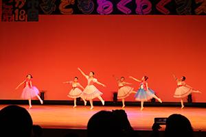 舞台発表のバレエ