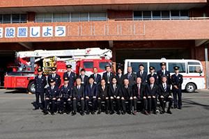 消防集合写真