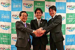 吉田健一朗さんと長裕海県議と