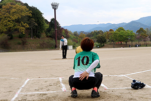 市長杯女子ソフトボール大会 始球式
