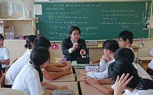 生徒と意見交換1