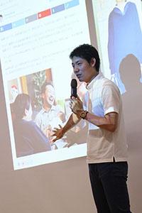 講師 コミュニケーション・デザイナーの岩永真一さん