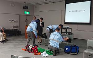 古賀市で開催された福岡救急医学会の市民公開講座
