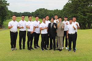 台湾のプロゴルファーをめざす高校・大学生の皆さんと