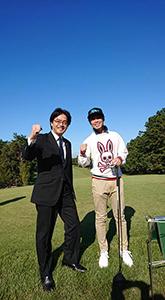 古賀市薦野のプロゴルファー、阿部剛丈選手と