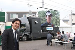 NHKさんの巨大スクリーン