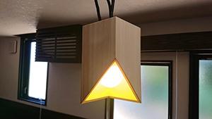 増田桐箱の照明カバー
