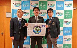 古賀ゴルフ・クラブの青木支配人、松尾課長と