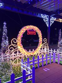 九州自動車道・古賀サービスエリア(SA)下りのイルミネーション点灯式