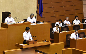 県議時代の2017年9月課題解決を教育長に提案
