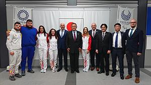 日本オリンピック委員会(JOC)の山下泰裕会長(全日本柔道連盟会長)を表敬訪問
