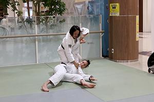 谷本さんの技のデモンストレーション