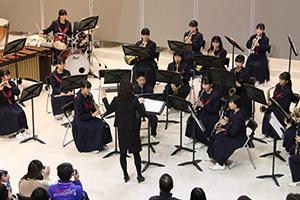 人権尊重推進ミニコンサート 古賀東中学校吹奏楽部の演奏