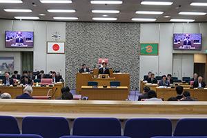 本日開会の古賀市議会定例会