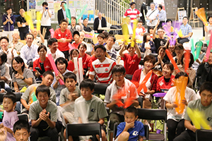 福岡選手のご両親、小川県知事にも参加いただきました