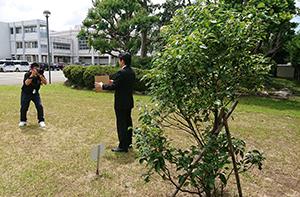 日本非核宣言自治体協議会の「首長メッセージ」の写真を撮影しました