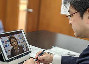 東京オリンピック・パラリンピックに向けて、橋本聖子・五輪担当相とホストタウン首長とのオンライン会議