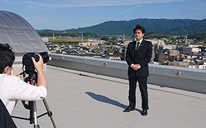 「九州レインボープライド」に向けて、メッセージ動画を撮影