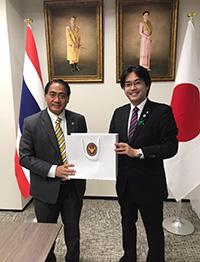 在福岡タイ王国総領事館 アッタカーン総領事と